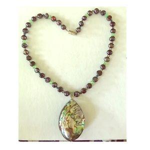 Jewelry - Artisan made Abalone, Mabè Pearls & Peridot